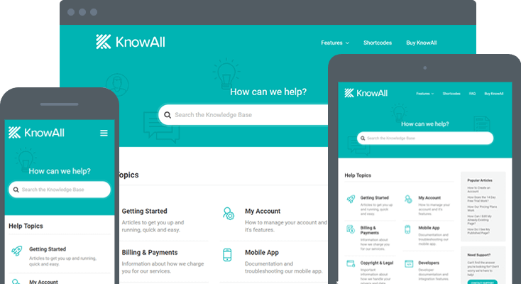 KnowAll Responsive Design