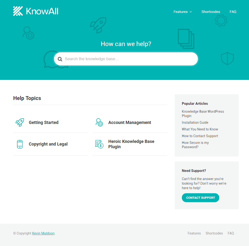 KnowAll Sample Layout