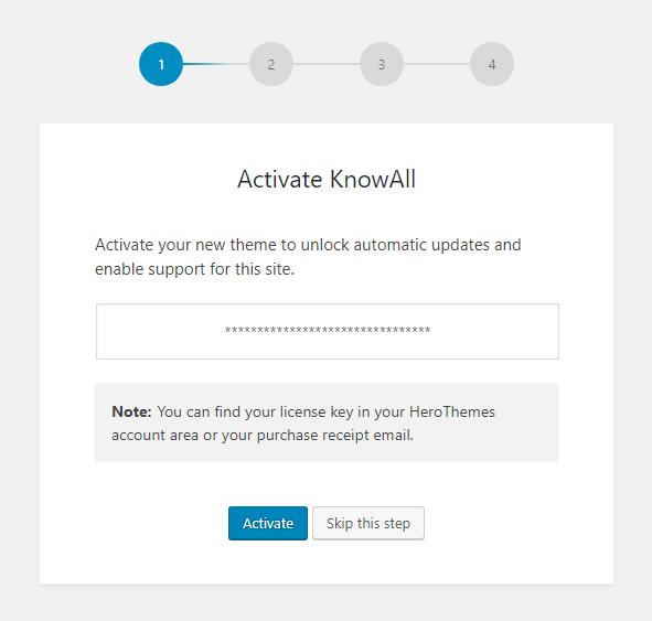 KnowAll Setup Step 1
