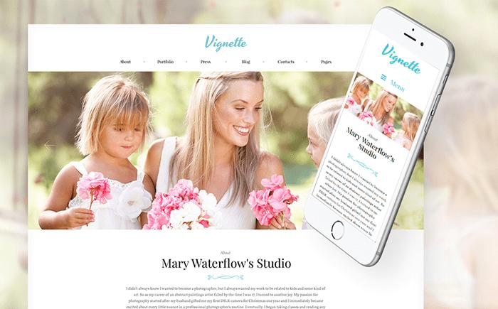 Vignette - Family Photographer & Portfolio WordPress Theme