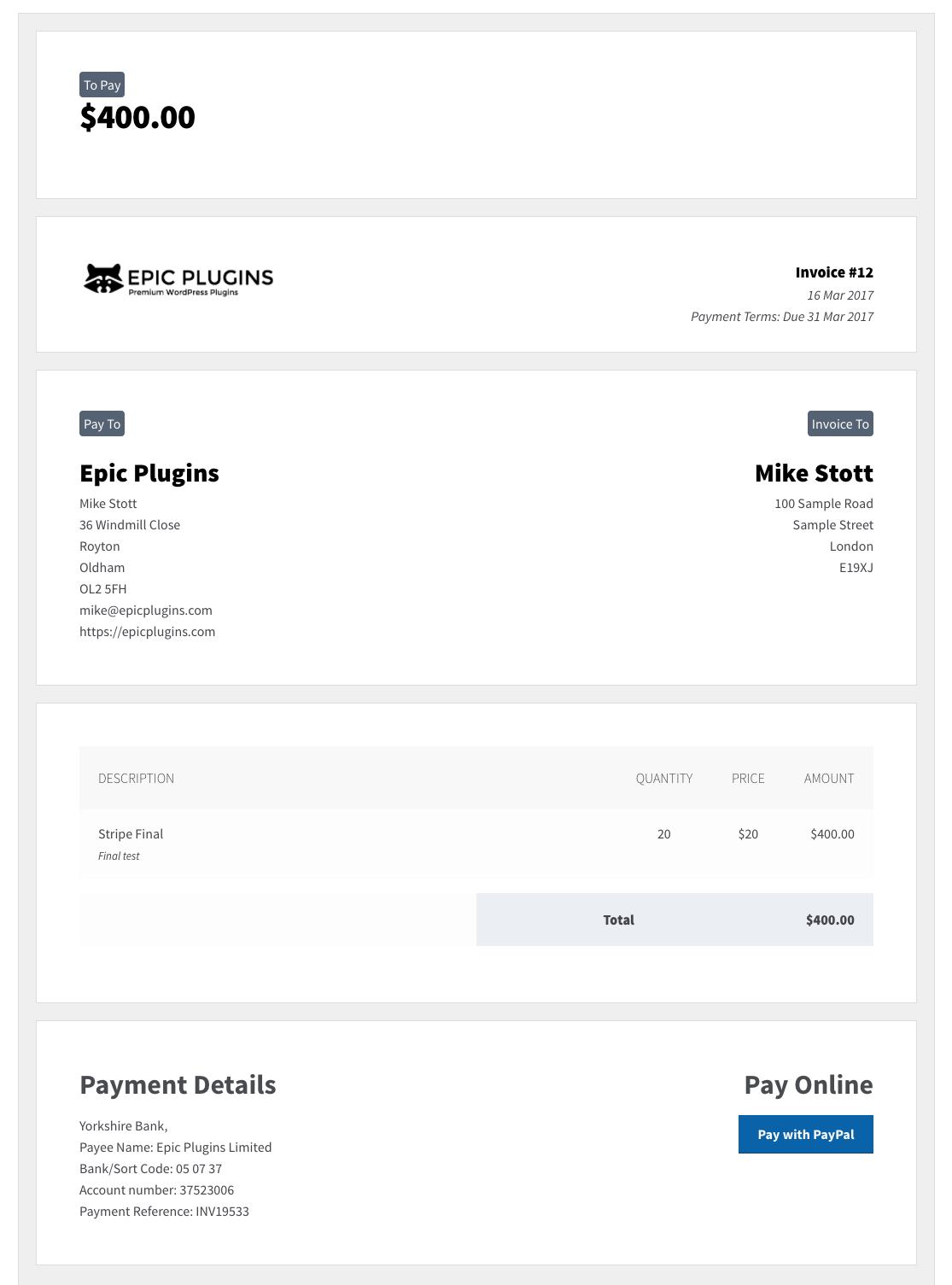 Invoicing Pro
