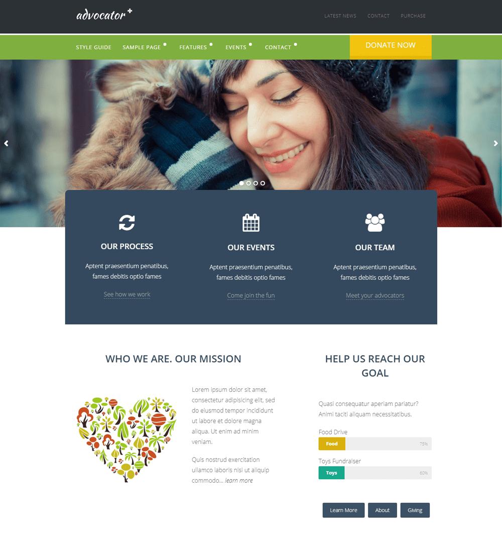 Advocator WordPress Theme
