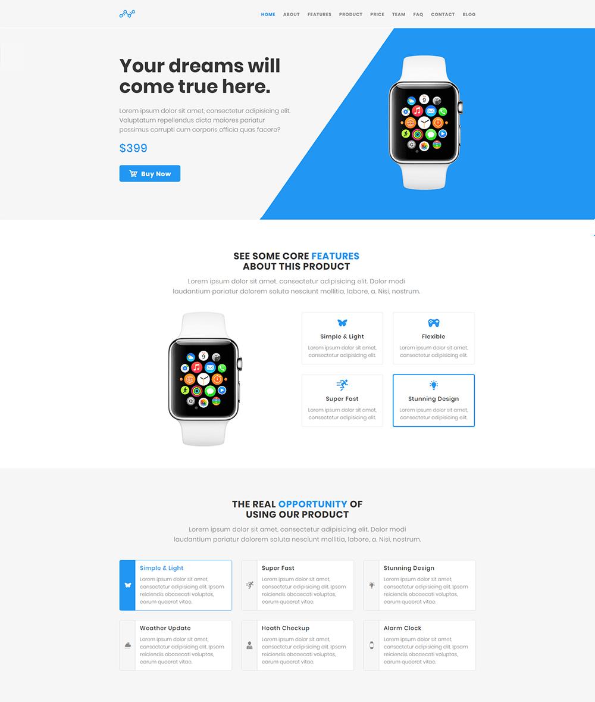 Blue - WordPress Product Landing Page Theme