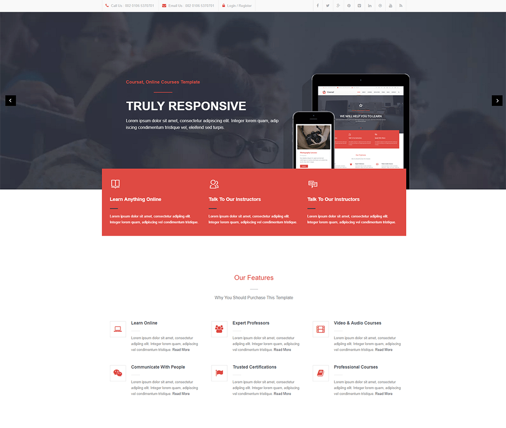 Coursat - Multipurpose Education WordPress Theme