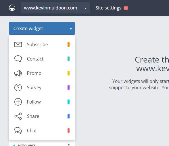 Create Widget