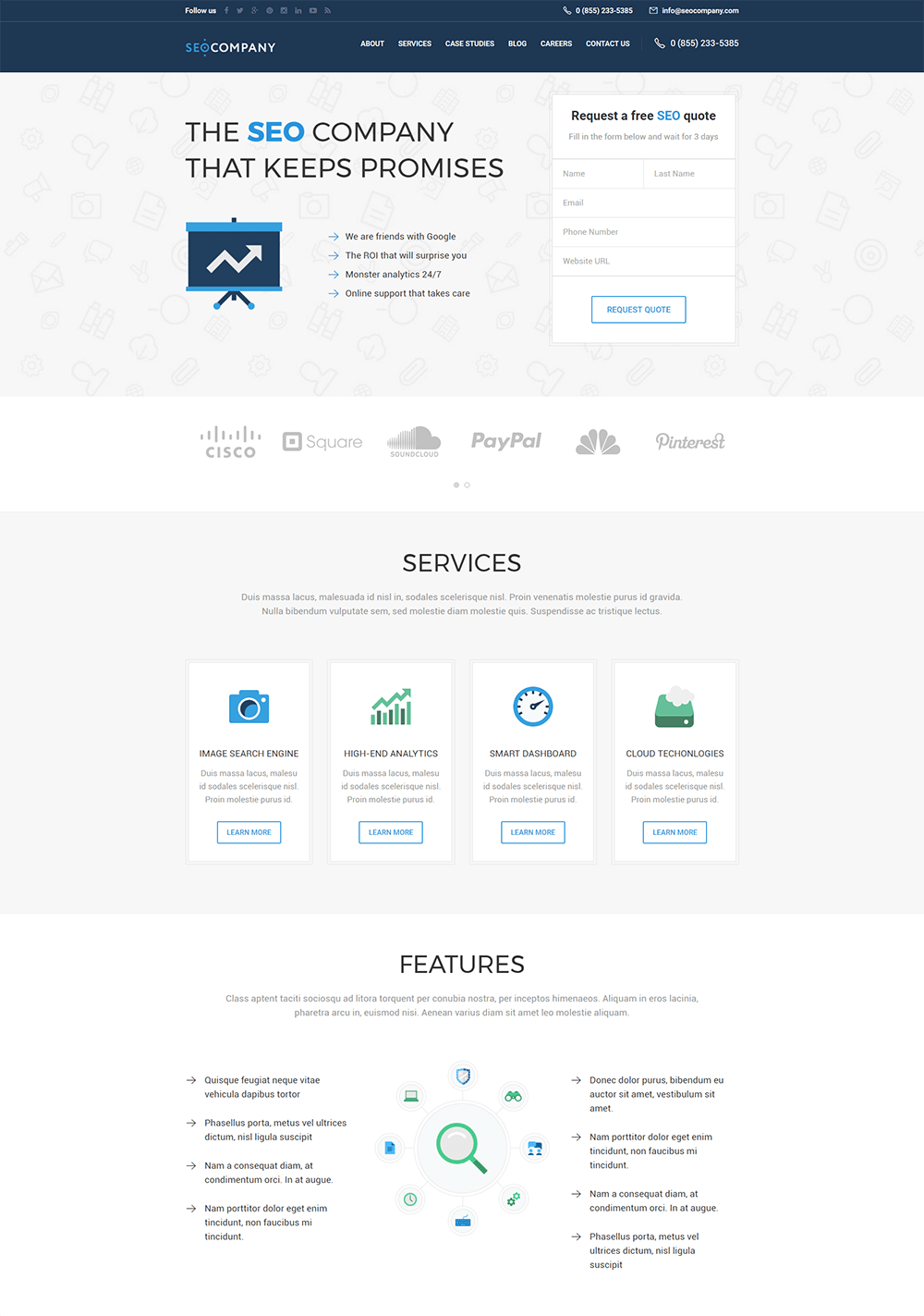 SEO Company - Marketing & SEO WordPress Theme