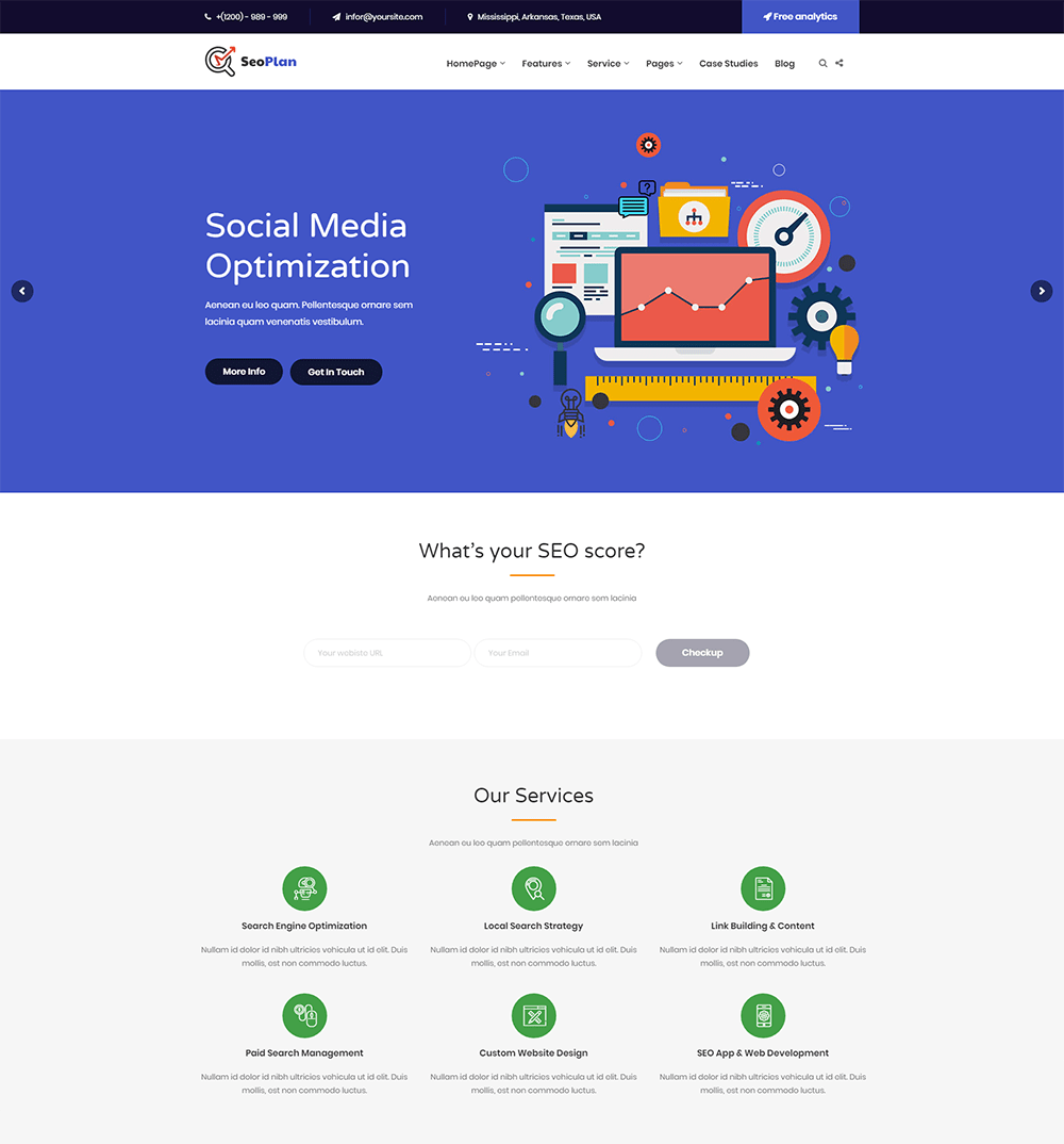 SEOPlan & Digital Marketing Agency WordPress Theme