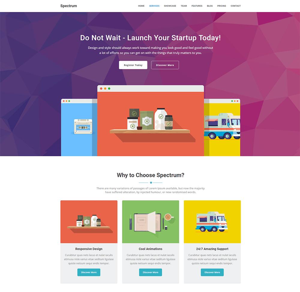Spectrum - Marketing Landing Page WordPress Theme