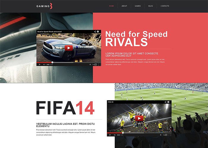 Classy Game Portal Muse Template