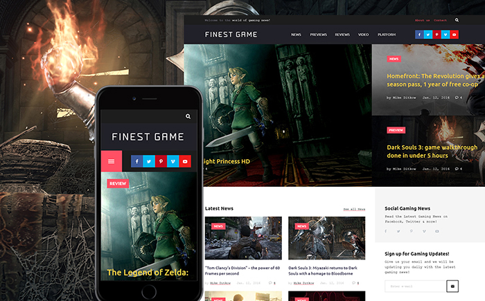 Finest Game - Gaming WordPress Theme