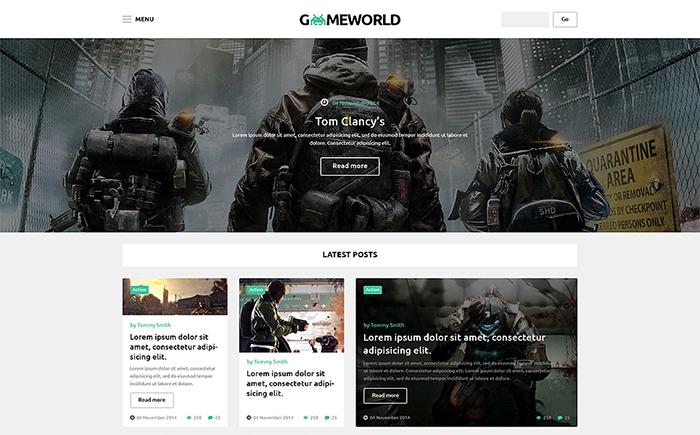 GameWorld WordPress Theme