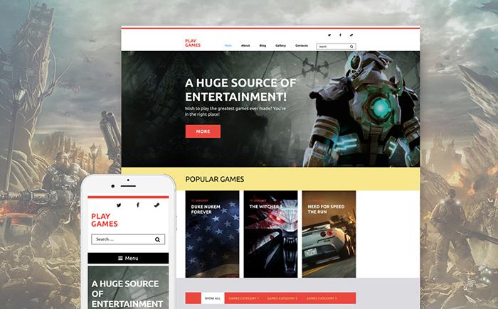 Play Games WordPress Theme