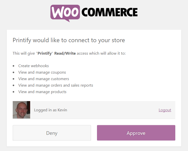 WooCommerce Connection