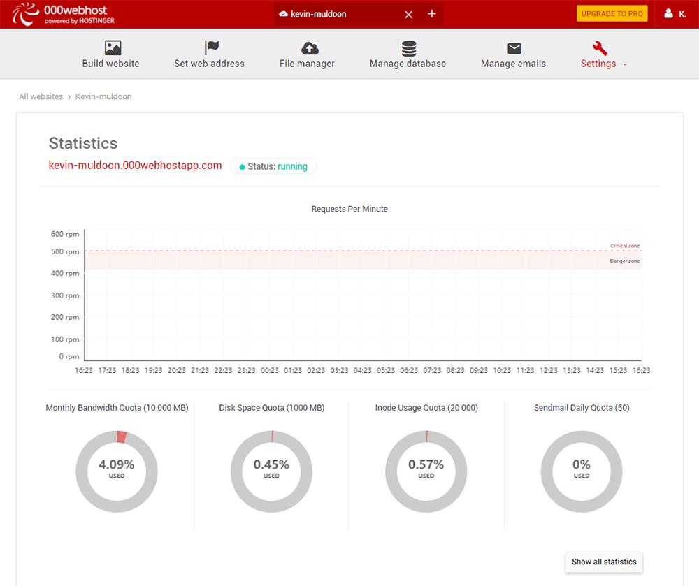 Website Statistics