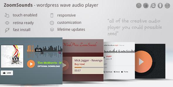 Screenshot of the ZoomSounds WordPress plugin