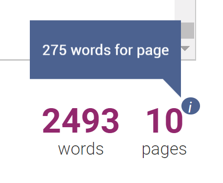 Words Per Page