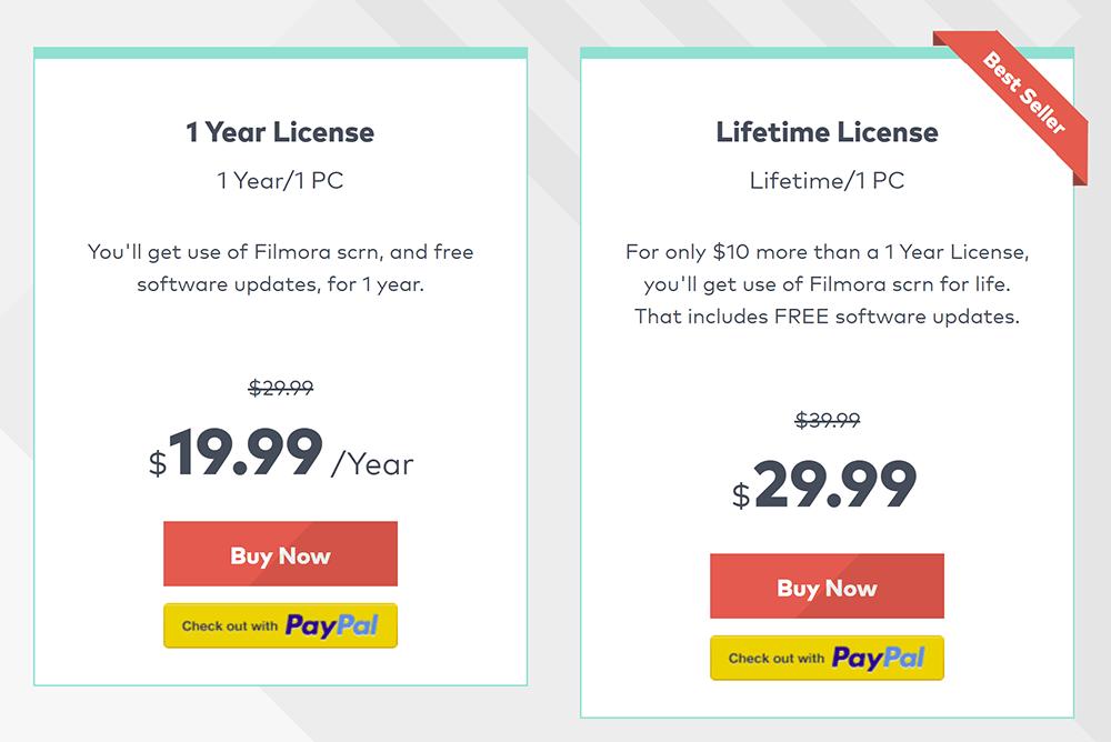 Filmora Scrn Pricing