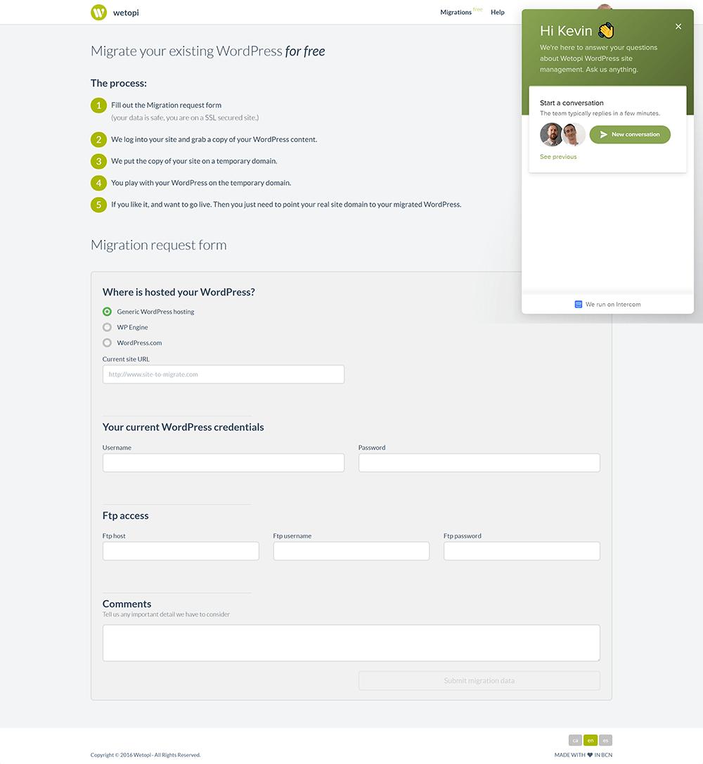 Migrating Website