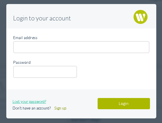 Logging into Wetopi
