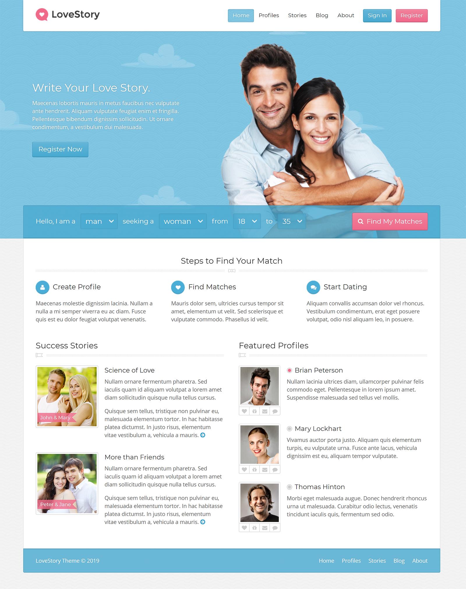 LoveStory WordPress Theme