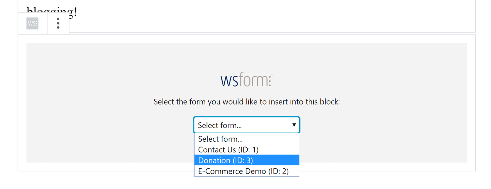 Insert a Form