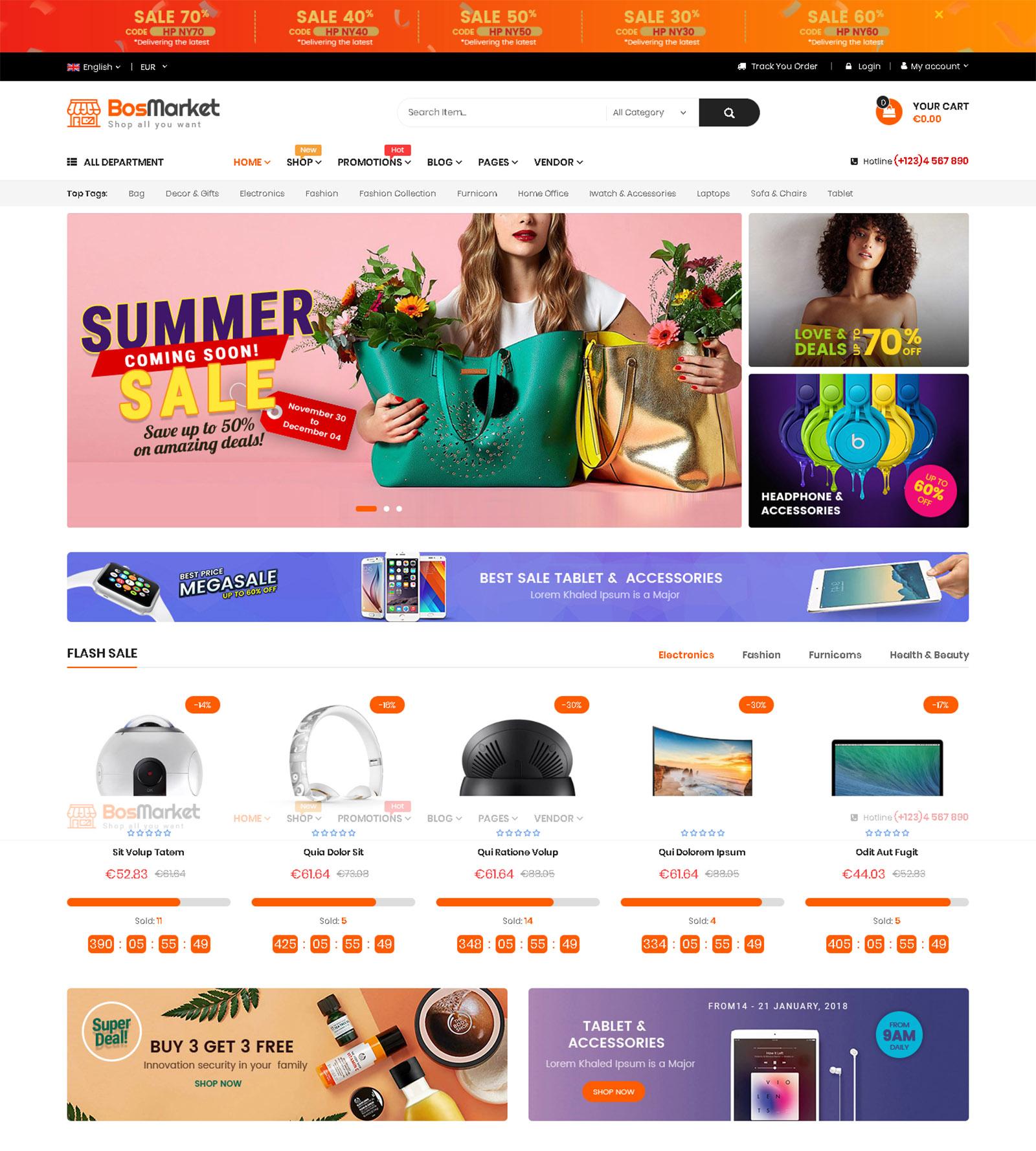 BosMarket WordPress Theme