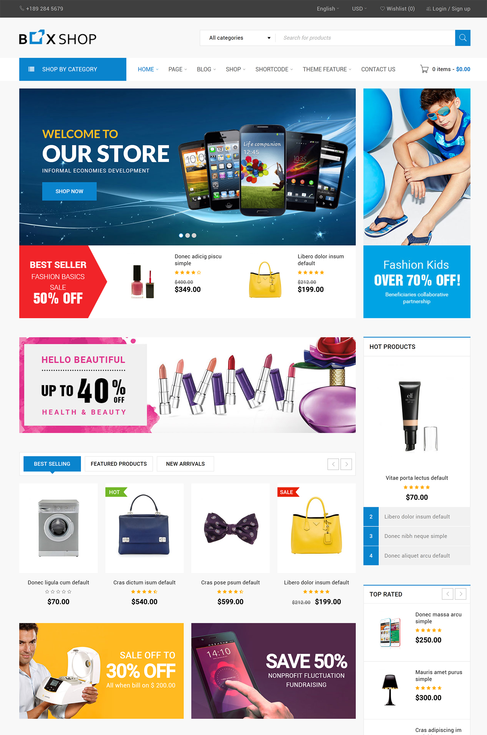 BoxShop WordPress Theme