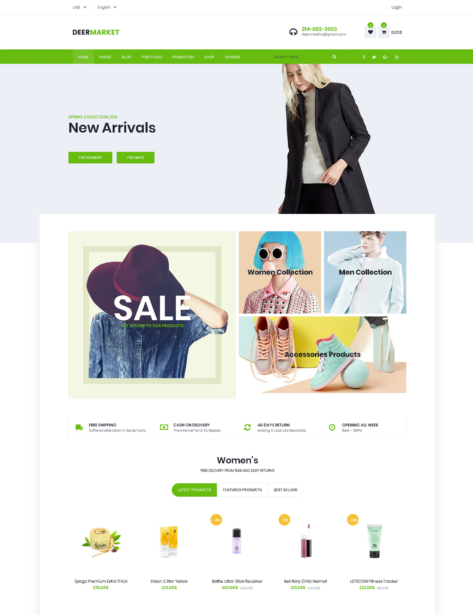 DeerMarket WordPress Theme