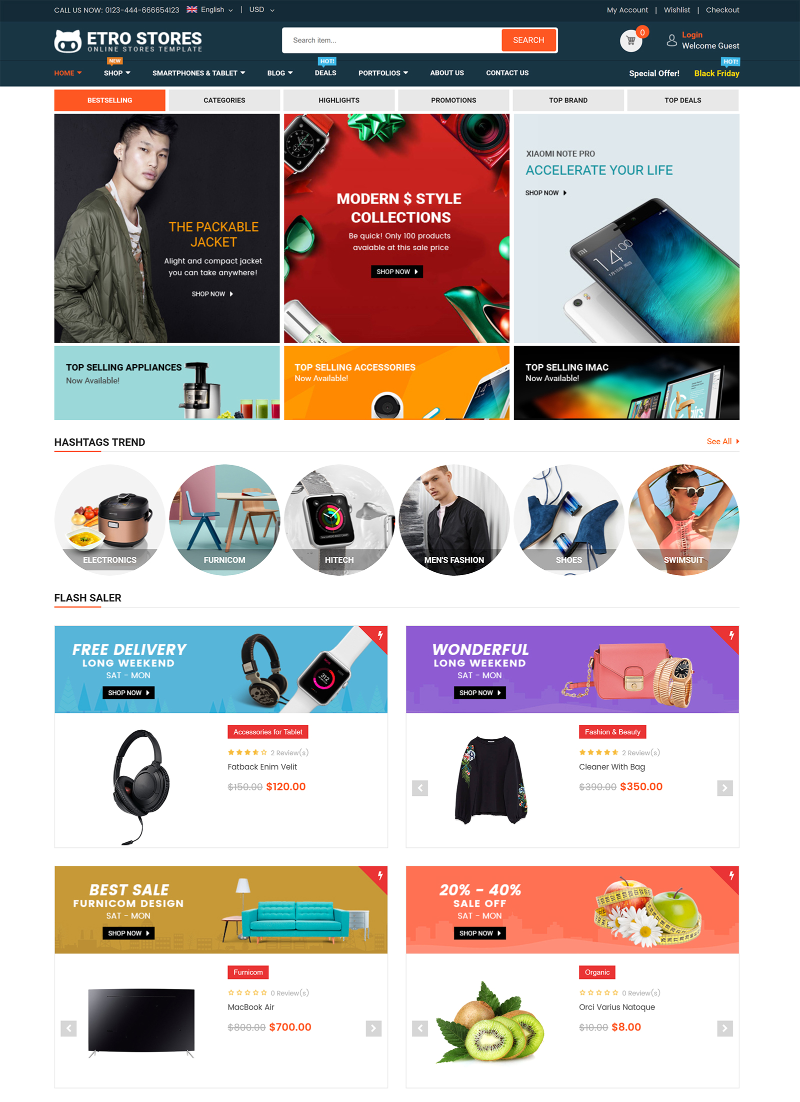 EtroStore WordPress Theme
