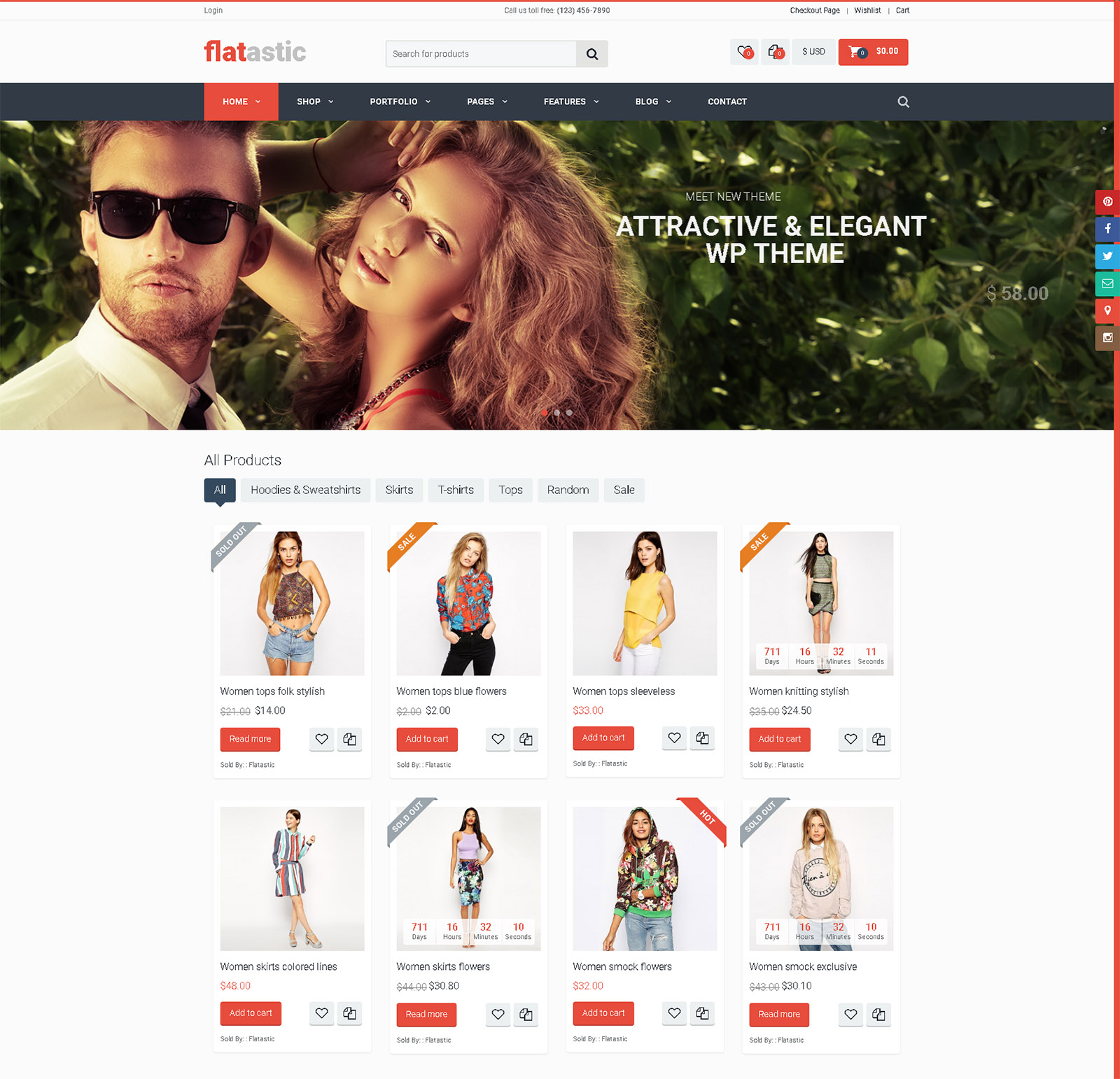 Flatastic WordPress Theme