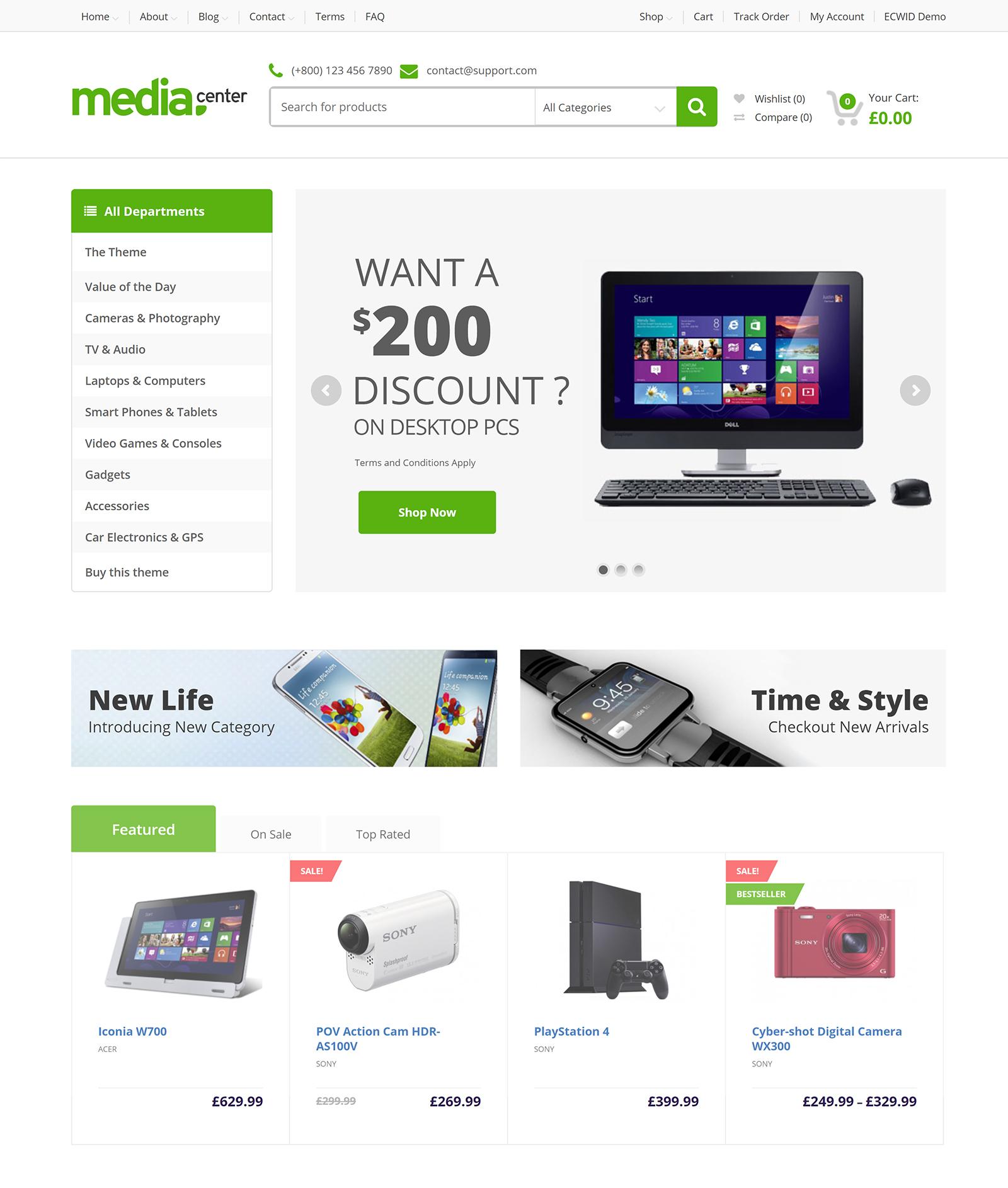 MediaCentre WordPress Theme