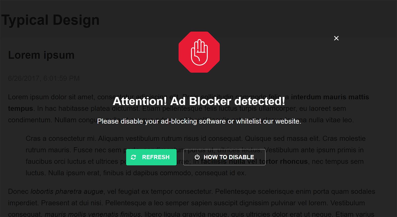 No Ad Block