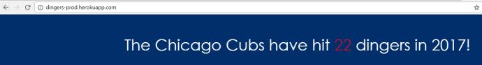 dingers-prod.herokuapp.com - The Chicago Cubs have hit 22 dingers in 2017!