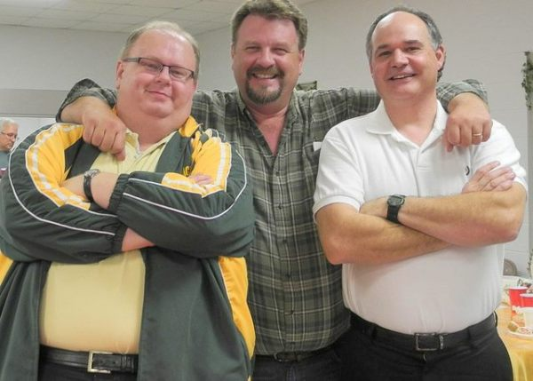 Kevin Purcell, Sean Meiners and Terry Stilwell at a High Peak fellowship.