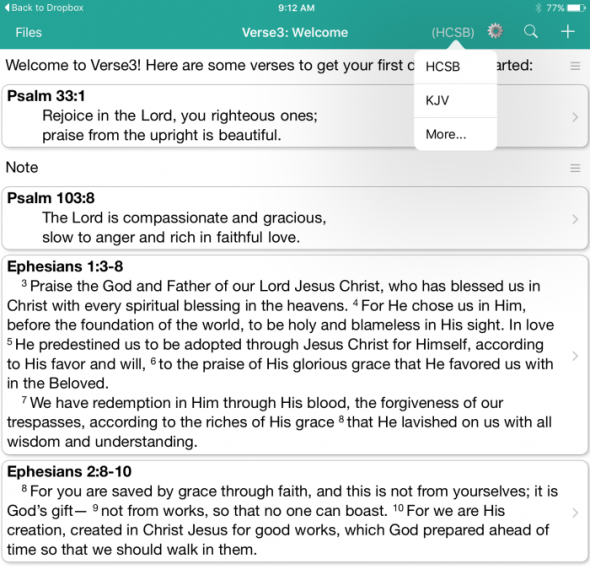 verse3 ipad app