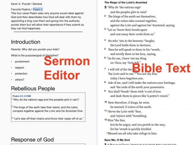 Logos Bible Study Mobile App Sermon Editor