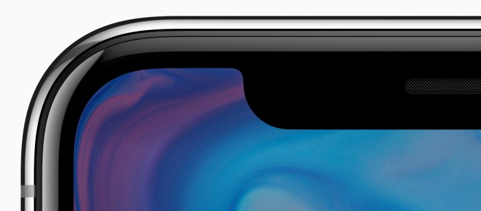 apple iphone x notch