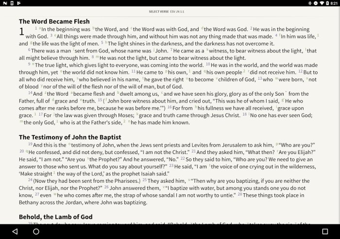 olive tree bible on android