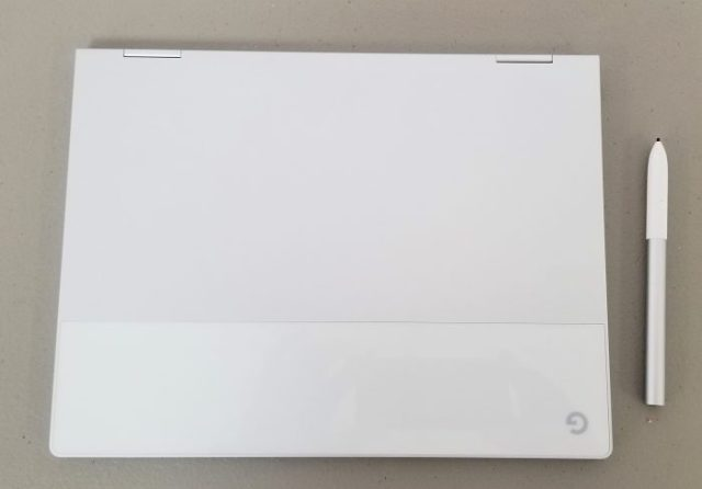 google pixelbook lid with pen