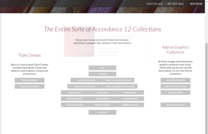 accordance bible collections