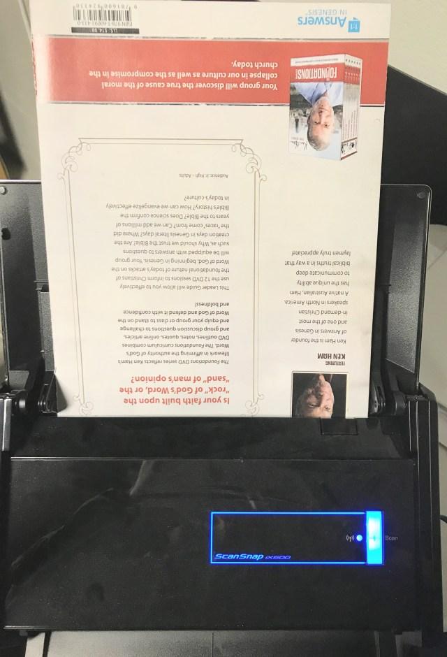 scanning with a Fujitsu Scansnap sheetlet scanner