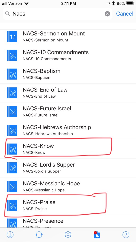 naps studies in bible and theology accordance bible app