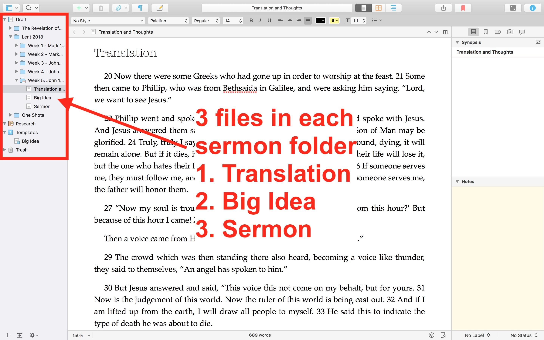 Using Scrivener to Write Sermons