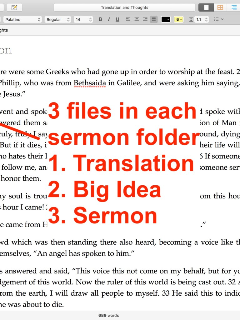 Using Scrivener to Write Sermons