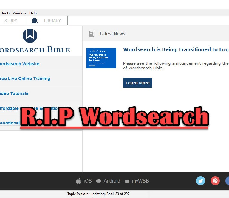 Logos Bible Software Bought Wordsearch. What does it mean for me?