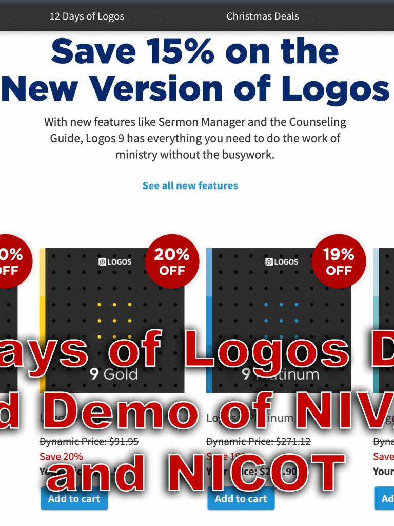 12 Days of Logos Deals and Demo in Logos 9
