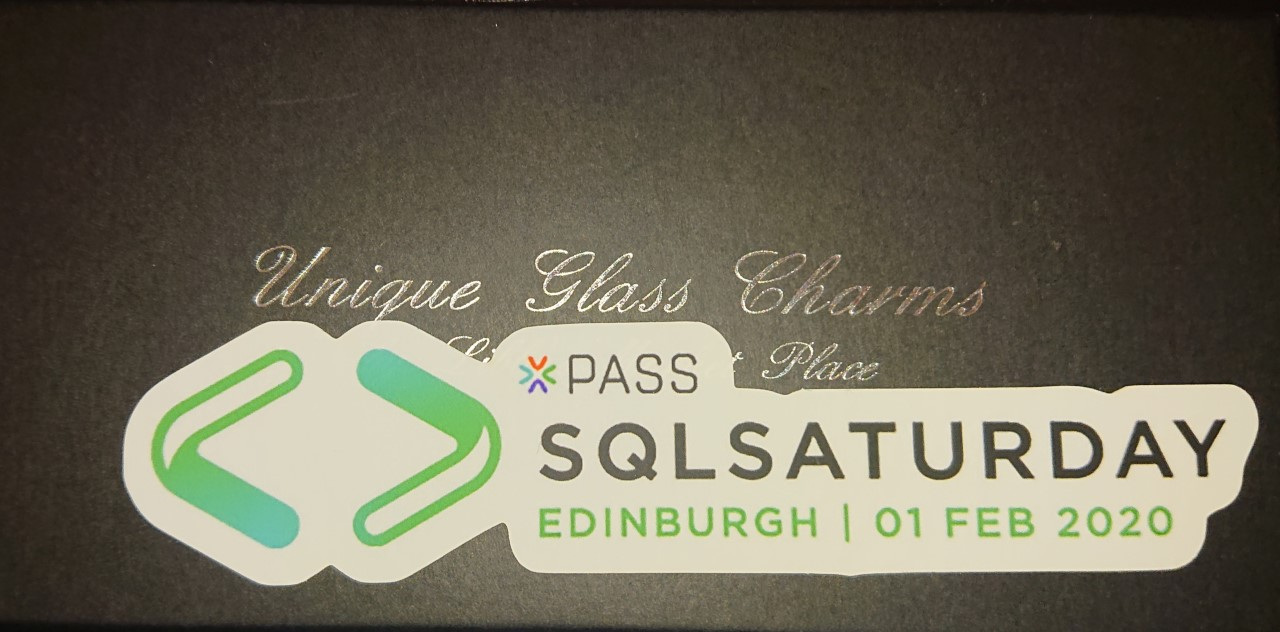 Speaking at SQL Saturday Edinburgh
