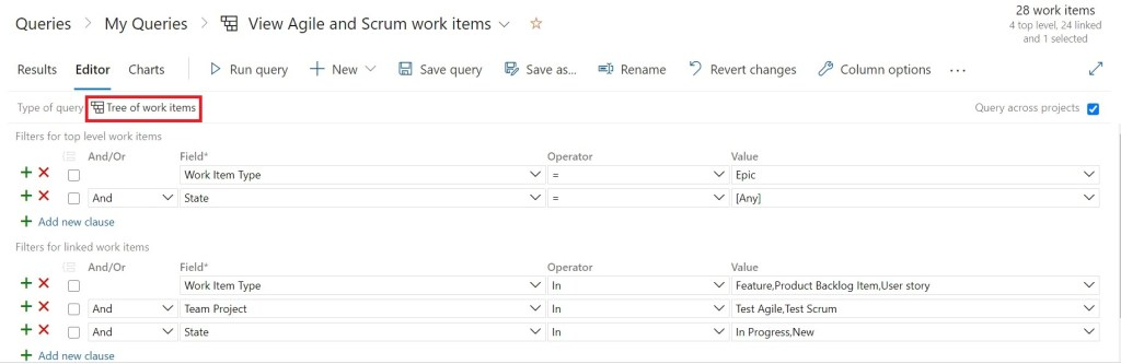 Viewing Agile and Scrum work items at the same time in Azure DevOps