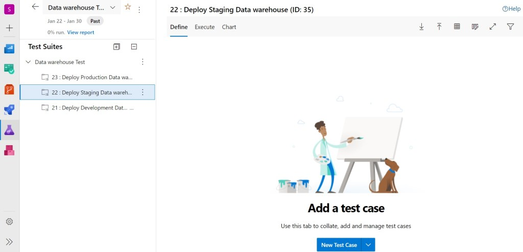 Test plan with requirement-based suites created in Azure Test Plans