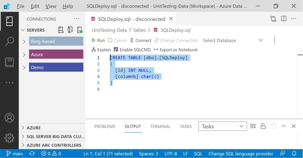 Second personal go-to script in Azure Data Studio